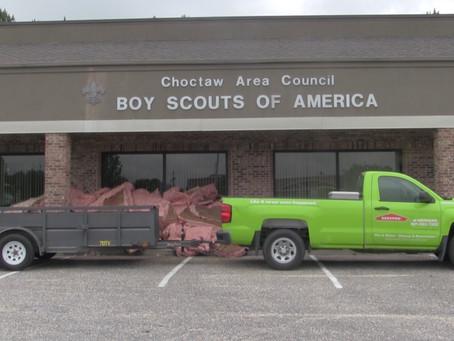Choctaw Area Council endures severe storm damage