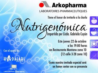 Charla de Nutrigenómica por lab. Arkopharma