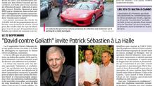 """Des voitures de prestige exposées pour les """"ROUES du COEUR""""."""