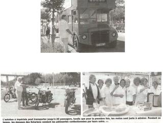 Ronde en autobus à impériale et motos pour les ROUES du COEUR.