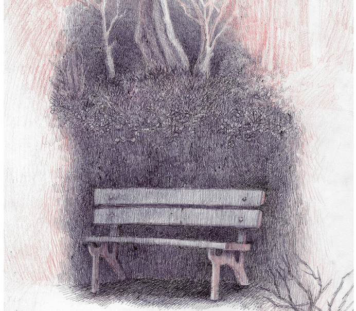 עידן לייטמן, ספסל בגינה באינשטיין, הדפס,