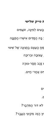 """""""עשרת הדברות טייק שלישי"""" בן שמואלי"""