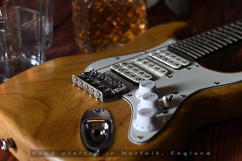 Strat 5 String HSH Ash Electric Mandolin Solid Body eMando