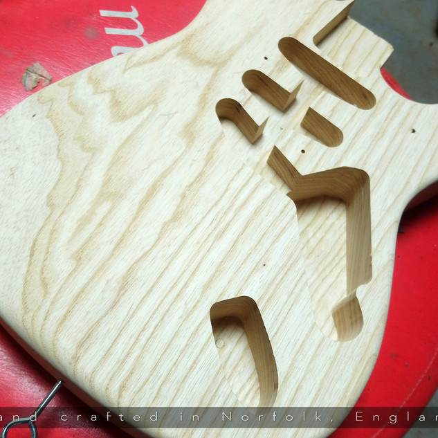 Belmuse Strat 8 String Build