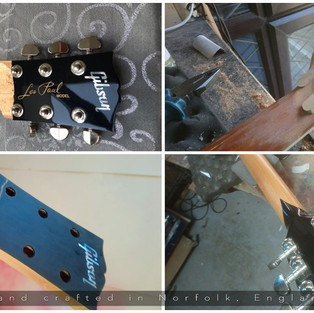 Gibson LP Headstock Repair