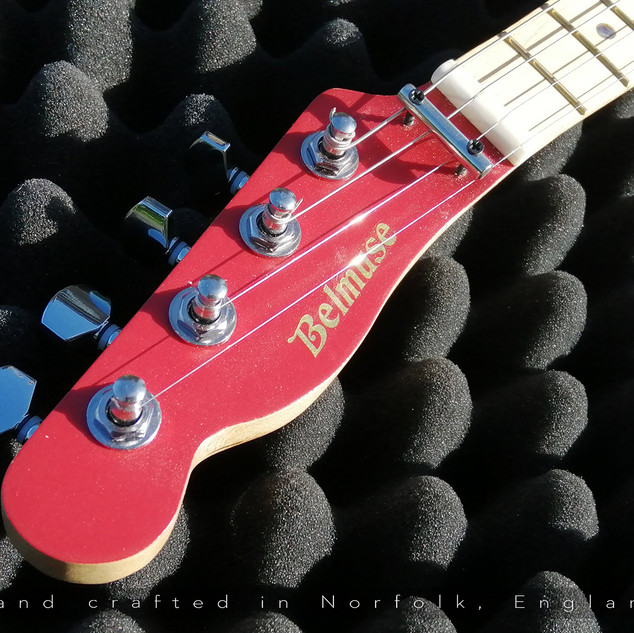 Belmuse Cherry 4 String 'Leftie'