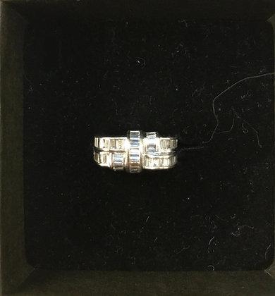 RING witgoud en diamanten