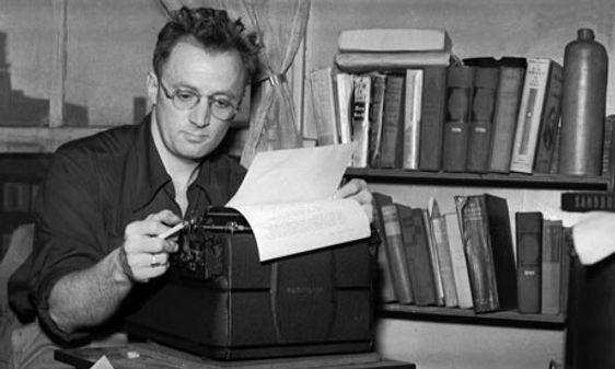 Nelson Algren w/typewriter
