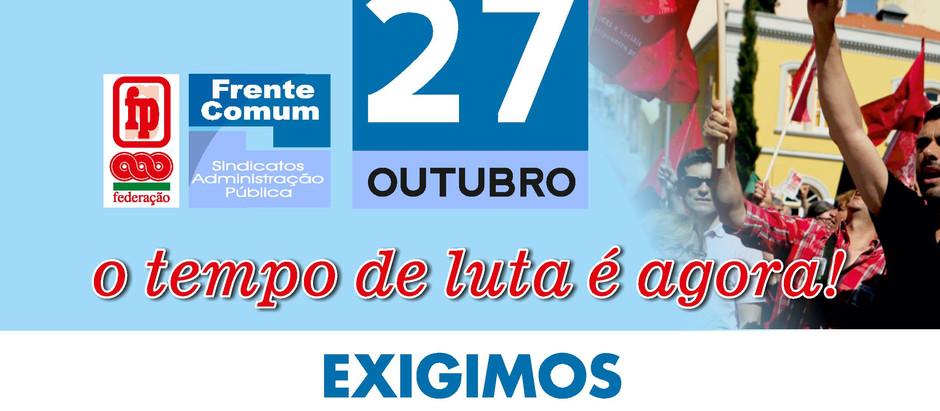 Greve nacional 27 Outubro
