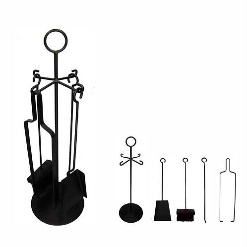Kit Lareira Simples 5 peças