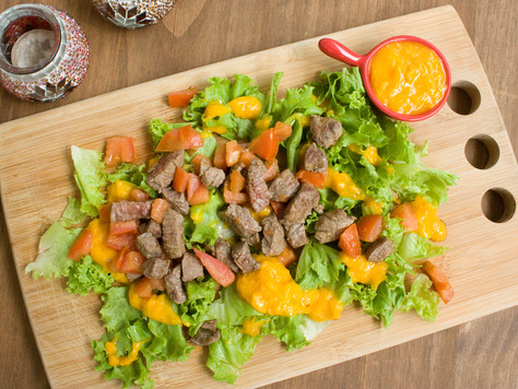 Receita 07: Salada com carne e laranja