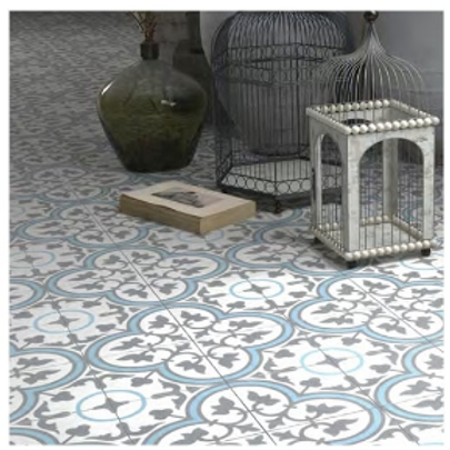 Vintage Aliso Blue 20cm x 20cm Wall & Floor Tile