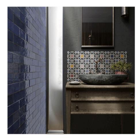 Artisan Colonial Blue 6.5cm x 20cm Wall Tile