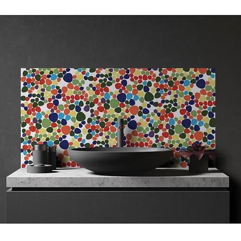 Pebble Multicolour 31cm x 32cm Wall & Floor tile