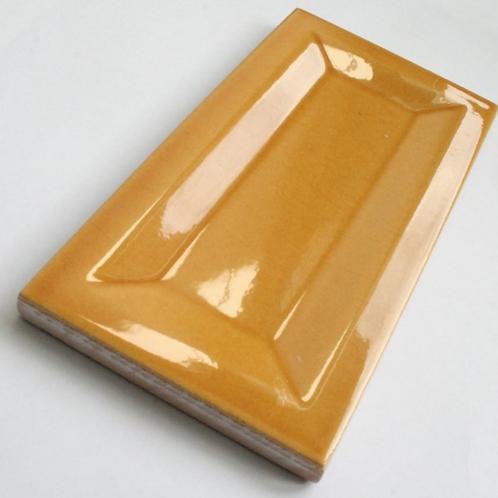 InMetro Amber Gloss 7.5cm x 15cm Wall Tile