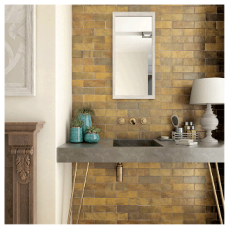 Artisan Gold 6.5cm x 20cm Wall Tile