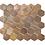 Thumbnail: Hexagon Oxidised Copper (5.1cm x 5.9cm) 29.5cm x 30.5cm Mosaic Tile