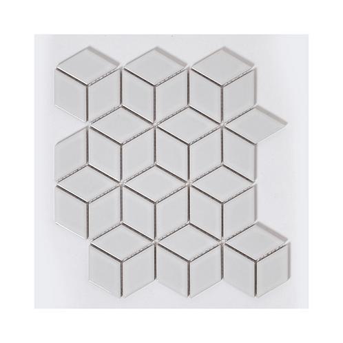 Rhombus Matt White Mosaic 266mm x 305mm x 5mm