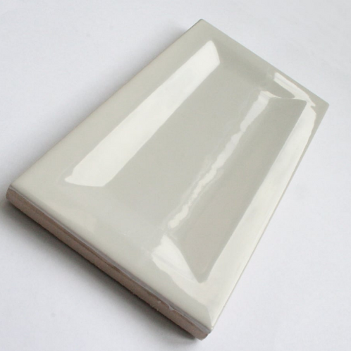 InMetro Light Grey Gloss 7.5cm x 15cm Wall Tile
