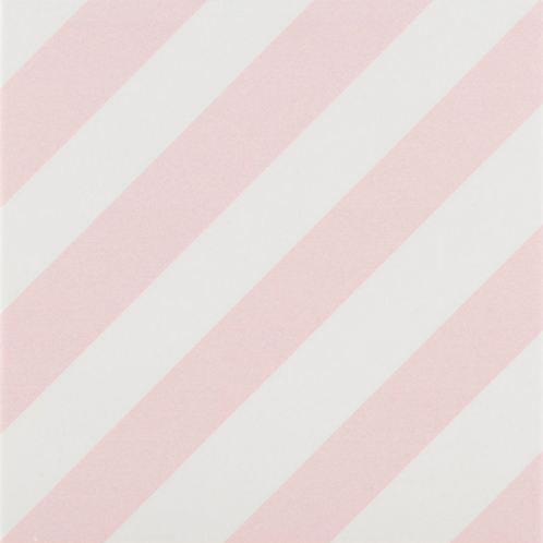 Elegant Stripes Rosa 20cm x 20cm Floor Tile