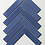 Thumbnail: Herringbone Blue Gloss 20.9cm x 24.7cm (3.2cm x 14.5cm) Wall Mosaic