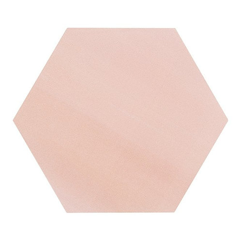 Lily Hex Base Hexagon Blush Rose 22.8cm x 19.8cm Wall & Floor Tile