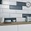 Thumbnail: White Bevel Gloss Wall  148mm x 498mm x 9mm