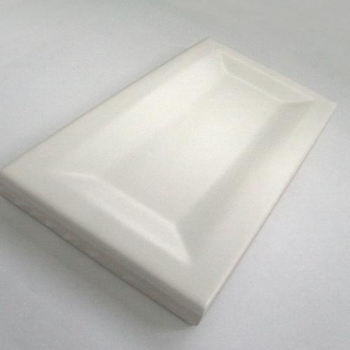 InMetro White Matt 7.5cm x 15cm Wall Tile