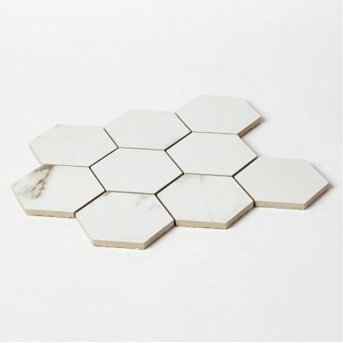 Statuario Hexagon Mosaic 29.2cm x 34.1cm Wall & Floor Tile