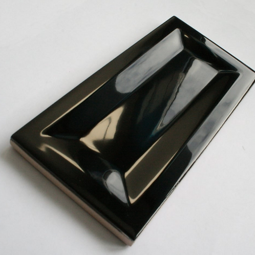 InMetro Black Gloss 7.5cm x 15cm Wall Tile