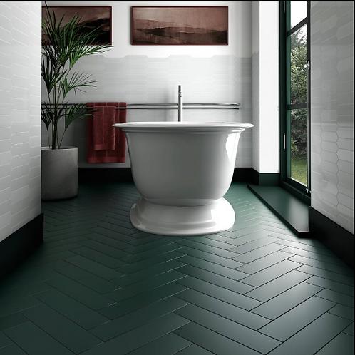Stromboli Viridian Green 9.2cm x 36.8cm Wall & Floor Tile