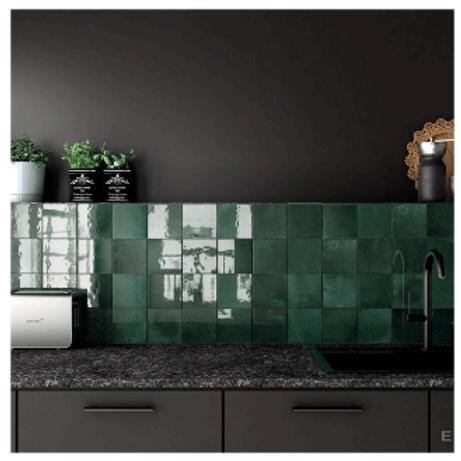 Artisan Moss Green 13.2cm x 13.2cm Wall Tile