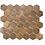 Thumbnail: Hexagon Oxidised Rust (5.1cm x 5.9cm) 29.5cm x 30.5cm Mosaic Tile