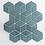 Thumbnail: Rhombus Gloss Teal Mosaic 305mm x 265mm x 5mm