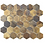 Thumbnail: Hexagon Oxidised Gold (5.1cm x 5.9cm) 29.5cm x 30.5cm Mosaic Tile
