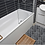 Thumbnail: Terrazzo Hexagon Nero Mosaic 26cm x 27.8cm Wall & Floor Tile