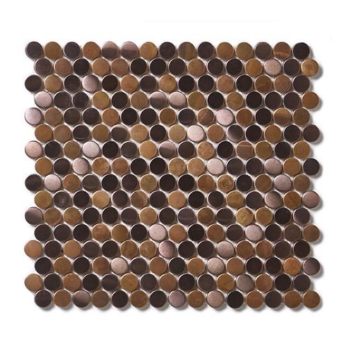 Victorian Penny Copper 29.5cm x 31.5cm Mosaic Tile