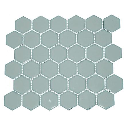 Hexagon Sky Blue Gloss (5.1 cm x 5.9cm) 32cm x 28cm Mosaic Tile