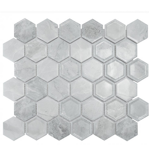 Hexagon Tablet Cement (5.1 cm x 5.9cm) 32cm x 28cm Mosaic Tile