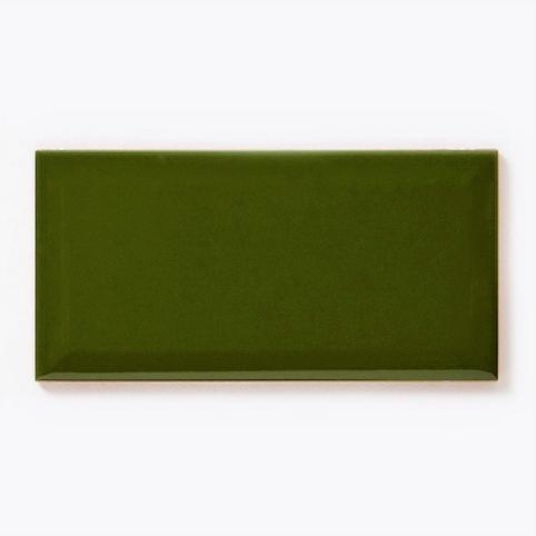Metro Brick Gloss Bottle Green 10cm x 20cm Wall Tile