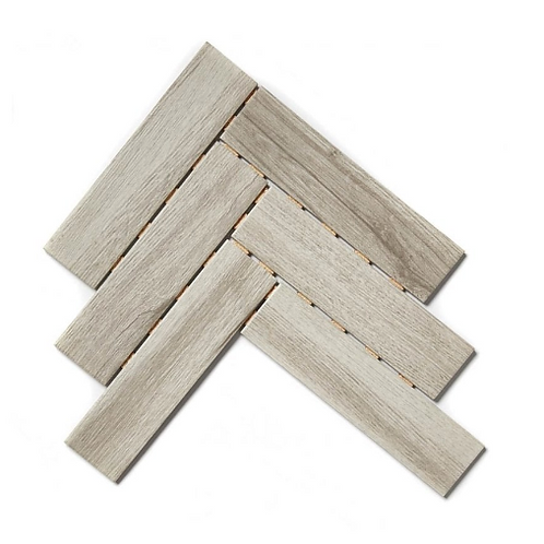Herringbone Light Wood 26.7cm x 34.4cm (6cm x 24cm) Wall & Floor Mosaic