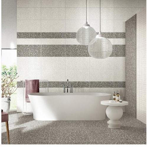 Terrazzo Light Grey 20cm x 20cm Wall & Floor Tile