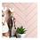 Thumbnail: Herringbone Pink Matt 20.9cm x 24.7cm (3.2cmx 14.5cm) Wall Mosaic