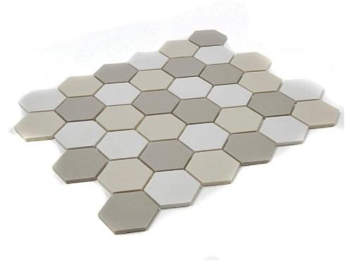 Full Body Hexagon Light Mix Mosaic (5.1cm x 5.1cm) 32.5cm x 28.1cm Wall & Floor