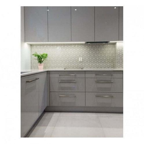 Rhombus Matt Stone Grey Mosaic 305mm x 265mm x 5mm