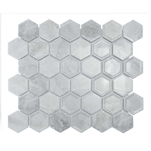 Tablet Cement Hexagon Mosaic 320mm x 280mm x 4mm