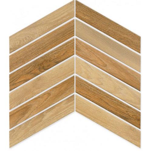 Arrow Cedar 8cm x 40cm Wall & Floor Tile