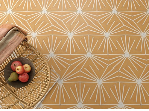 Lily Hex Hexagon Blaze Orange 22.8cm x 19.8cm Wall & Floor Tile