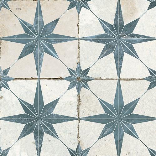 Scintilla Sapphire Star Pattern 45cm x 45cm Wall & Floor Tile