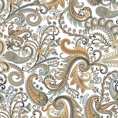 Paisley Mysore 25cm x 25cm Wall & Floor Tile